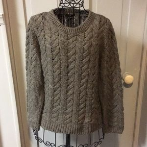 H&M Brown Thick Cable Knit Wool Sweater